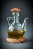Decanter of olive oil Royalty Free Stock Images