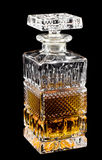 Decanter over black Royalty Free Stock Photography