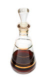 Decanter with red liqueur Stock Photos