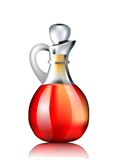 Decanter with red wine vinegar Royalty Free Stock Photography