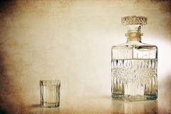 Decanter and shot Royalty Free Stock Image