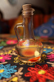 Decanter of vinegar flavored with herbs Royalty Free Stock Photo