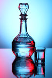 Decanter with vodka Royalty Free Stock Images