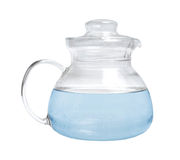 Decanter with water Stock Photo