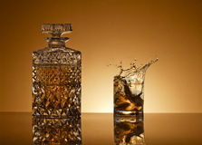 Decanter of whiskey and a glass Stock Photography