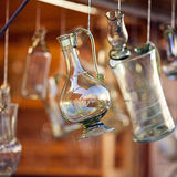Decanters of bohemian glass Royalty Free Stock Image