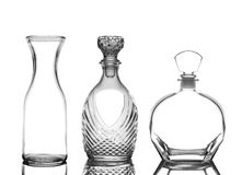 Decanters on White with Reflection Royalty Free Stock Photo