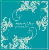 DeCard  in Baroque style. Card with curls in Baroque style Royalty Free Stock Photo