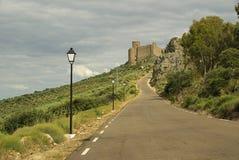 普埃布拉de阿尔科塞尔Castillo 库存照片