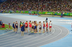 Decathlon athletes at Rio2016 royalty free stock photography