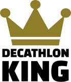 Decathlon king Royalty Free Stock Photography