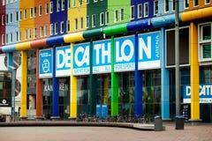 Decathlon sport store in Amsterdam city Stock Photos