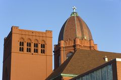 Decatur, Illinois - downtown. Decatur, Illinois - church in downtown Royalty Free Stock Photo