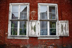 Decay. Windows in Dutch Quarter of Potsdam, Germany Stock Images