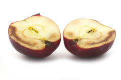 Decay of apple half Royalty Free Stock Image