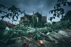 Decay of a Christian church royalty free stock images