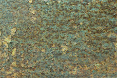 Decay metal rust surface, green rusty background.  Royalty Free Stock Photography
