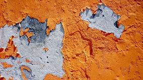 Decay orange color wall Royalty Free Stock Image