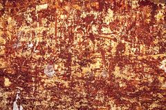 Decay rusty wall grunge texture. Grunge rusty wall texture with stains and cracks Stock Photos