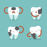 4 Decay teeth ,dental concept Royalty Free Stock Photography
