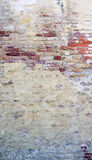 Decay wall mixed with brick background vetical Royalty Free Stock Photography