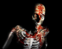 Decay Zombie. A conceptual Halloween image of a decaying zombie Royalty Free Stock Photos