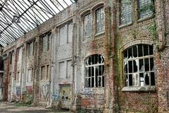 Decayed Brick Facade Royalty Free Stock Images