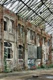 Decayed Brick Facade Royalty Free Stock Photo