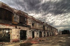 Free Decayed Brick Facade Royalty Free Stock Image - 9206166