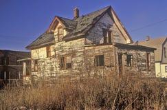 Decayed building in Detroit, MI slum Stock Photography