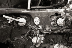 Decayed Car door Royalty Free Stock Image