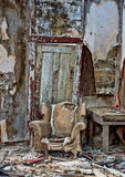 Decayed chair in Randsberg Royalty Free Stock Photography