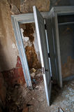Decayed Closet. Closet in an Abandoned Building royalty free stock photos