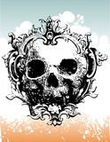 Decayed crowned skull illustra Stock Photo