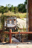 Decayed Gasoline Dispenser Royalty Free Stock Photography