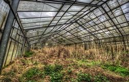 Decayed greenhouse Royalty Free Stock Photo