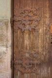 Decayed ornamental door Stock Image