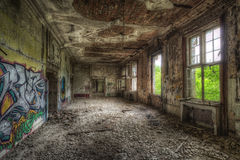 Decayed room Stock Photo