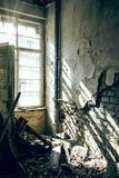 Decayed room with sun Royalty Free Stock Image