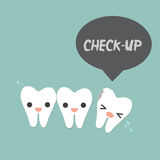 Decayed tooth Royalty Free Stock Photos