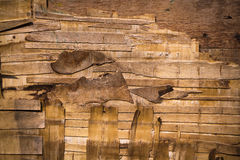 Decayed wood wall crack Royalty Free Stock Image