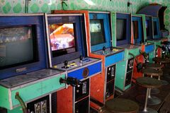 Decaying arcade machines Stock Photography