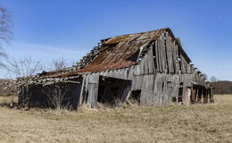 Decaying Barn. On rural road royalty free stock photos