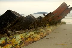 Decaying Boat Stock Image