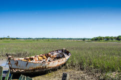 Decaying Boat Royalty Free Stock Image
