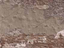 Decaying brick wall Stock Photos