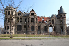 Decaying building in Detroit, Michigan royalty free stock image