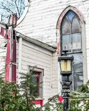 Decaying Church, Architecture, Urban Decay, Lampost stock photos