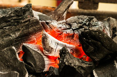 Decaying coals for cooking. And a background Royalty Free Stock Photos