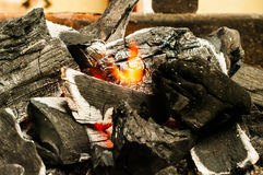 Decaying coals for cooking Stock Images
